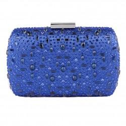 Bolsa de embrague, Marika Azul, tela