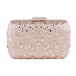 Bag clutch, Marika Pink, fabric