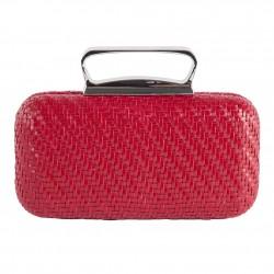 Bolsa de embreagem, Attilia Vermello, coiro