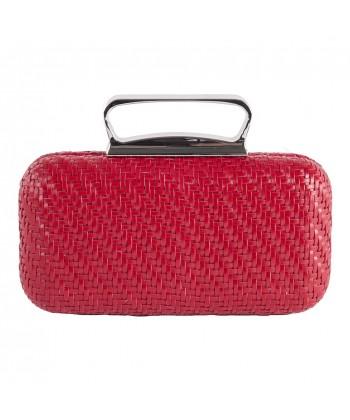 Bolsa de embrague, Attilia Rojo, piel sintética