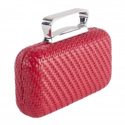 Bag clutch, Attilia Red, leatherette