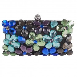 Bag clutch, Naomi Black, Multicolor, satin