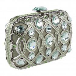 Bolsa de embreagem, Marinetta Verde, tecido