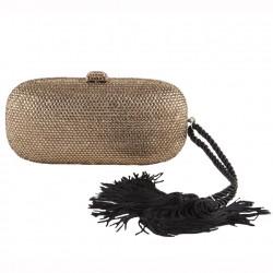 Clutch-tasche, Miranda Gold, stoff