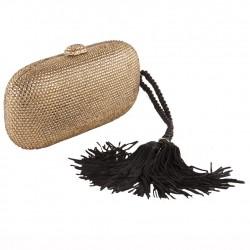 Bag clutch, Miranda Gold, fabric