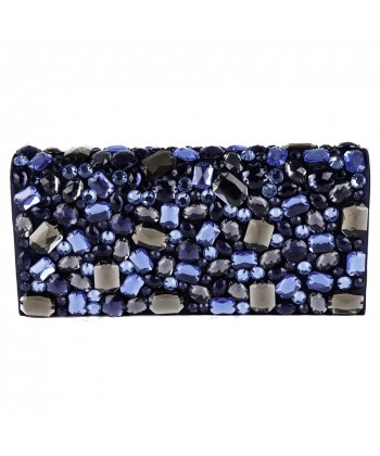 Bag clutch, Ursula Blue, faux leather