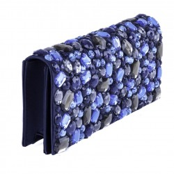 Bolsa de embrague, Ursula Azul, cuero de imitación