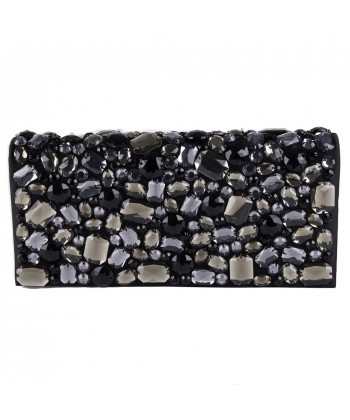Bag clutch, Ursula Black, faux leather