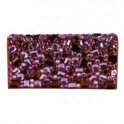 Bolsa de embreagem, Ursula Vermello, coiro falso