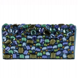 Borsa clutch, Ursula Verde, in ecopelle