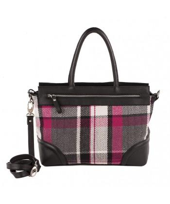 Hand bag, Orietta Multi-color, fabric, and leather