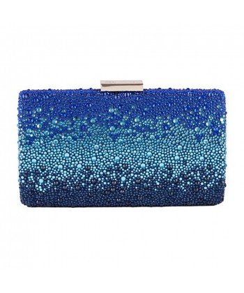 Bag clutch, Pauline Blue, satin