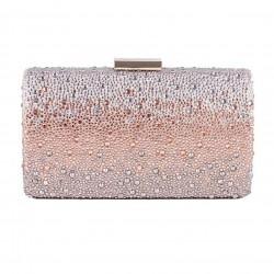Bag clutch, Pauline Pink, satin