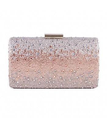 Bag clutch, Pauline Pink, satin