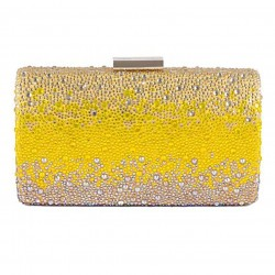 Bag clutch, Pauline Yellow, satin