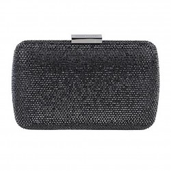Borsa clutch, Everina Nera, in raso