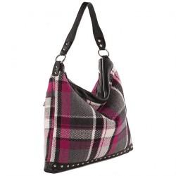 Bolsa de ombreiro, Graza Multi-cor, tecido, coiro e