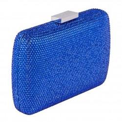 Bag clutch, Everina Blue, satin