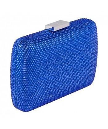 Bolsa de embreagem, Everina Azul, de satén