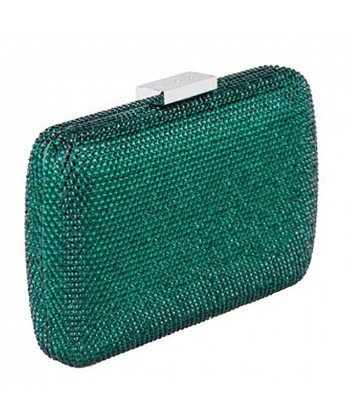Bag clutch, Everina Dark Green, satin