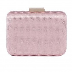 Borsa clutch, Polly Rosa Scuro, in raso
