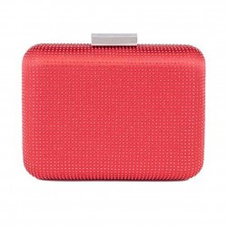 Bag clutch, Polly Red, satin