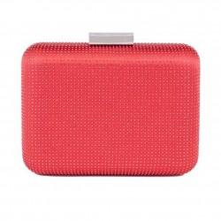 Bolsa de embrague, Polly Rojo, satén