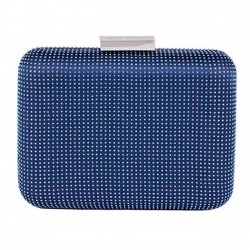 Clutch-tasche, Polly Blau, satin