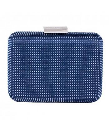 Bolsa de embrague, Polly Azul, satén