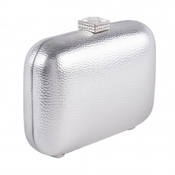 Bag clutch, Giusi Silver, faux leather