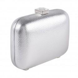 Bolsa de embrague, Giusi de Plata, cuero de imitación
