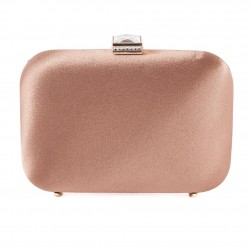 Bolsa de embrague, Giusi Beige, tela de raso