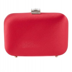 Bag clutch, Giusi Red, satin fabric