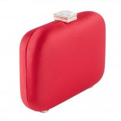 Bolsa de embrague, Giusi Rojo, tela de raso