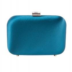 Bolsa de embrague, Giusi Azul, tela de raso