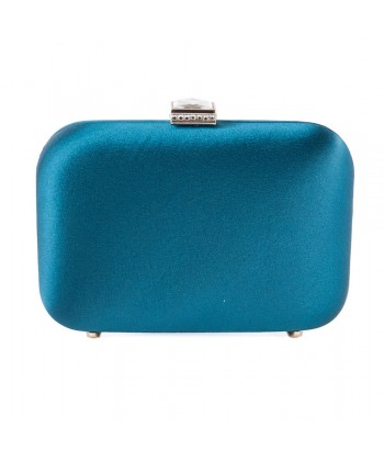 Bag clutch, Giusi Green, satin fabric