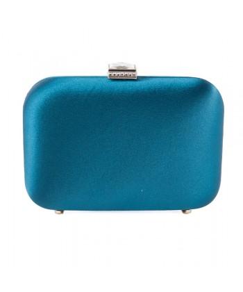 Bolsa de embrague, Giusi Verde, tela de raso