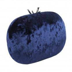 Borsa clutch, Adele Blu, In velluto damascato