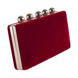 Borsa clutch, Marica Rossa, in velluto damascato