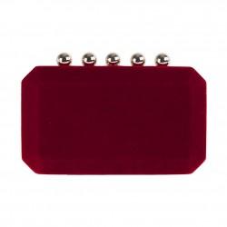 Borsa clutch, Danielle Rossa, in velluto damascato