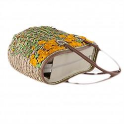 Hand bag, Rosetta, straw