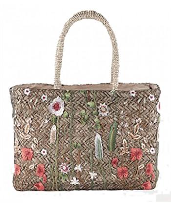 Hand bag, Mint, straw