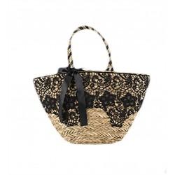 Handtasche, Zafira, stroh