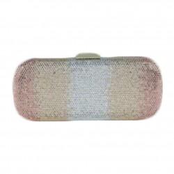 Bolsa de embreagem, Meghi ouro, tesuto e strass