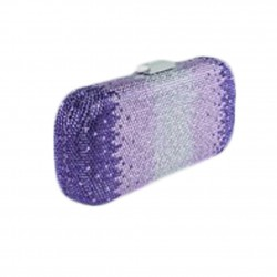 Bag clutch, Meghi lilac, tesuto and rhinestones