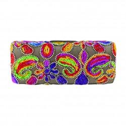 Bag clutch, Norina gold, tesuto embroidered