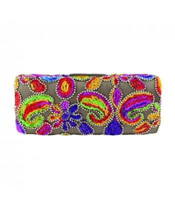 Handtasche clutch, Norina gold, tesuto gestickt