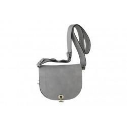 Bolsa de trcolla, Marius, en imitación de cuero, color acero
