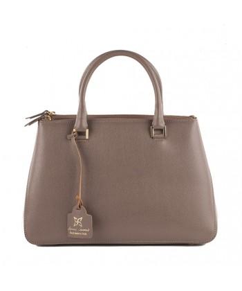 Handtasche, Egle Beige, leder, made in Italy