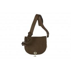 Bolsa de ombreiro, Marius, marrón, coiro,
